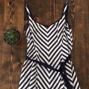 ⚜️ Talbots - Cotton Blue Stripe Dress - 6